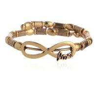Wholesale Alex Ani Love Wrap - Latest alex and ani charms expandable bangles braceletsantique gold colors plated love wrap charm wring bangle bracelet high quality