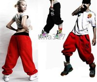 Wholesale Womens Baggy Trousers - Fashion Womens Casual Hip Hop Harem SweatPants Ladies Baggy Sport Wide Leg Trousers DanceWear StreetWear Cheap loose Jogging pants 0378
