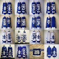 Wholesale Cheap Army Men - 2017-2018 Season 16 Mitch Marner 29 William Nylander 34 Auston Matthews 31 Frederik Andersen 17 Wendel Clark 12 Marleau Hockey Jerseys Cheap