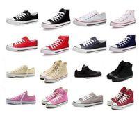 Wholesale Classic Lacing Canvas Shoes - New quality Classic Low-Top & High-Top canvas Casual shoes sneaker Men's  Women's canvas shoes Size EU35-46 retail