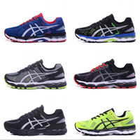 Wholesale Hot Pink Shoe Laces - 2017 Asics Hot Sale GEL-KAYANO 22 Men Running Shoes 100% Original Cheap Jogging Sneakers Lightweight Sports Shoes Size 40.5-45