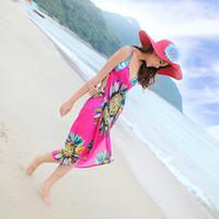Wholesale Towel Dress For Beach - New swimwear 2016 tourist beach dress Condole belt backless dress Simple beach towel Colorful swimming dresses for women