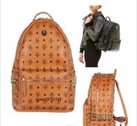 summer new arrival Fashion punk rivet backpack school bag unisex backpack  student bag men travel STARK BACKPACK. ea305fde00