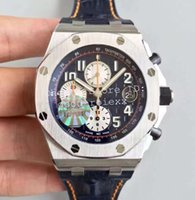 Wholesale Second Watches - 3 Style Men's Sport Watches JF Factory Automatic Cal.3126 Movement Chronograph Watch Men 12 Oclock second hand 26470 Eta Leather Stopwatch