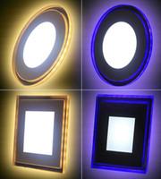 plafonnier led panneau achat en gros de-10W 15W 18W Acrylique LED Encastré vers le bas Panneau lumineux Plafonnier Applique murale AC85-265V Blanc froid Blanc chaud Pour la décoration intérieure Spotlight