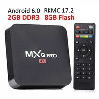 Wholesale Android Tv 2gb Ram - 2GB RAM rk3229 mxq pro 4K Ultimate HD Android 6.0 smart tv box S905W Quad Core 8GB 2.0GHz Hardware Decoding WIFI Miracast