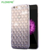 Wholesale Diamond Mobile Phone Cover - Mobile Phone Case For iPhone 6 6S For iPhone6 Plus   6S Plus Fashion Colorful Gradient Diamond Back Cover Shiny Clear Cases Bags