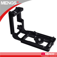 Wholesale L Shape Camera Mount - Wholesale-MENGS 5D3 1 4 inch Mounting Screw Camera L-shaped Quick Release Plate for Canon 5D3
