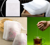 leere teebeutel großhandel-Art und Weise heiße leere Teebeutel-Teebeutel-Schnur heilen Dichtungs-Filterpapier-Teebeutel 5,5 x 7CM für Kraut-losen Tee G185