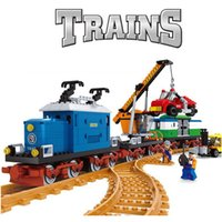AUSINI 724pcs AlanWhale Vintage Pick-up Merci locomotiva Treno Modello Building Blocks Mattoni Playset Giocattoli ferroviari