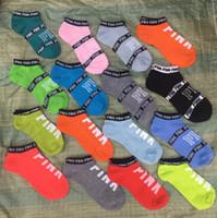 Wholesale Hot Pink Ankles - 2017 Hot Ankle VS love Pink Va socks Women Socks Football Cheerleaders Stockings Vs Short Sports Stocking Ankle LOVE Pink skateboard sock