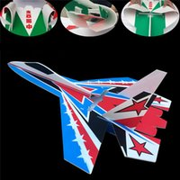 Wholesale plane models kit - Brand new su 27 model rc airplanes part multicolor shatter resistant kt foam board led jet plane body kits dropshipping