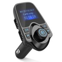 medidor de rádio venda por atacado-Universal Bluetooth Car Transmissor FM Adaptador de Rádio Sem Fio Carregador USB Mp3 Player 8 Metros Frete Grátis