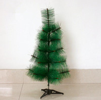 Wholesale Plastic Pine Needles - artificial christmas trees 60cm 23.6 inch simulation small pine needle tree pine needle tree decoration field Christmas ornaments CT003
