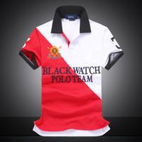 xxl männer uhren großhandel-US-GRÖSSE Polo-Shirt City Custom Fit Mesh Herren T-Shirt SCHWARZ UHR POLO TEAM Custom Fit S M L XL XXL