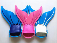 Wholesale Swimming Swim Diving Fins - Mermaid Flippers Adjustable Wave Fins Kid Swimming Training Flipper Mermaid Kel Shoes Tail Diving Scuba Feet Tail Monofin