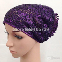 Wholesale Scarf Assorted - Wholesale-XM0982 wholesale free shipping by DHL assorted colors fashion style muslim underscarf cap for women