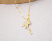 Wholesale Copper List - 2018 listed on the new trend of the fashion of 18 k gold plated silver flamingos women necklace pendant necklace gift wholesale