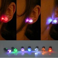 Wholesale Earring Glow Studs Wholesale - Glowing Earring Festive Party Supplies LED Earrings Stainless Steel Stud Earrings