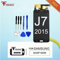 Wholesale Tft Lcd Screen Display Panel - Can Adjust Brightness TFT LCD for SAMSUNG Galaxy J7 2015 J700 Display J700F J700M J700H Touch Screen Digitizer Replacement Parts