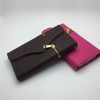 Wholesale s3 case card holder resale online - Zipper Wallet PU Leather Flip Case Stand With Credit Card Holder For iPhone S Plus Samsung Galaxy S3 S4 S5 S6 Edge Note