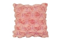 Wholesale Pink Roses Pillow Cases - Wholesale-Rose Jacquard Double Layer Throw Pillow Cushion Pillowcase Case Cover Home 40cm 160g a2