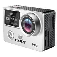câmera de esporte hdmi venda por atacado-EKEN H6S Nativo 4K Full-Time EIS Ultra HD Câmera de Esportes de Ação WIFI HDMI Dual tela 170 Wide Angle controle remoto à prova d 'água DV