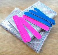 Wholesale Disposable File - 100 240 Grit Professional Nail Files nail Buffer Buffing Slim Crescent Grit Nail Tools Disposable Nail File 100 pcs set