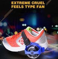 sportrollen rollenschuhe großhandel-Kleine Wirbelwindrolle Sporting Lighted Flashing Wheels Ferse Skate Roller Skates Rollschuhe Skate Roller Roller
