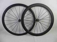 Wholesale 26 Wheels - Carbon road bike wheels front wheel 38mm and rear wheel 50mm clincher tubular bicycle wheelset basalt brake surface 700c clear coat 3K matte