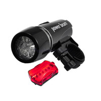 Wholesale Luz Led Bicicleta - Waterproof 2 IN 1 Bike Head Light+Safety Rear Bicycle Flashlight Lamp LED Lights for Bycicle Accessories Luz Bicicleta PM14