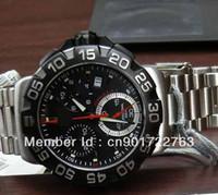 Wholesale Swiss Made Chronograph Men - Wholesale-NEW TAG MENS F1 GRAND CHRONOGRAPH SWISS MADE WRIST WATCH CAH1110 black dial belt men watches