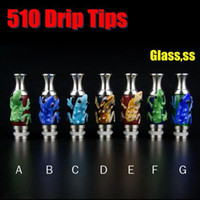 Wholesale Pyrex Dct - Vase Style Drip Tips 510 Pyrex Glass Vape Mouthpieces With Animal Fit Kanger Protank DCT EVOD FJ262