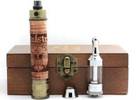 ingrosso mod box in legno-E fire X Fire 2 Kit legno Ecig Mod Batteria VV Wooden Vape Tensione variabile 3.3-4.8V con IClear30 Clearomizer in scatola di legno