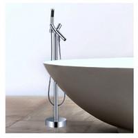Wholesale Fix Single Handle Shower Faucet - Wholesale And Retail Luxury Dual Handle Floor Mounted Tub Filler Bath Faucet W  Hand Shower Mixer Tap
