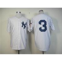 Wholesale Wholesale White Uniform Shirts - Yankees #3 Babe Ruth Baseball Jerseys White Throwback Baseball Shirts Authentic 1951 Home Jersey Discount Mens Uniforms Athletic Jerseys