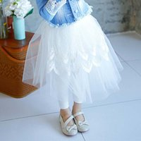 Wholesale Lace Ruffle Leggings For Girls - Ruffle Lace Leggings Korean Girl Dress Leggings Pants Girls Tights 2016 Spring Leggings For Kids Children Clothes Kids Clothing Ciao C22554