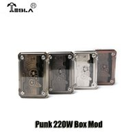 Wholesale Vw Led - 100% Original Tesla Punk 220W Box Mod VW TC Dual 18650 Battery Mod Built-in RGB LED Lights