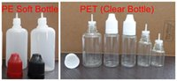 Wholesale plastic drip tip bottles online - 100ml plastic e liquid bottle ml eye drop bottle ml e liquid dropper bottles with long and thin drip tip DHL