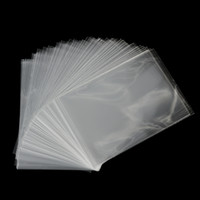 Wholesale Cellophane Cookie Bags - Wholesale- 100Pcs lot Clear Sweets Cookies Lollipops Cake Cellophane Bags Packaging Candy Cookie Plastic Bag Wedding Party Supplies