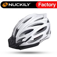 Wholesale Nuckily Cycling - Nuckily Best selling with good quality safety helmet Multi color air perspiration cycling safety helmet in-mold bike helmet PB02
