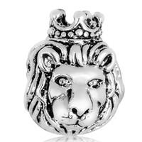 Wholesale King Chain 925 - Lion King Charm 925 Sterling Silver European Charms Bead Fit Pandora Snake Chain Bracelet Women Jewelry