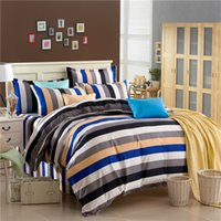 Wholesale Grey Pattern Duvet Cover - Wholesale-grey blue black striped pattern comforters set twin full queen king size boy's bed linens children's duvet covers school