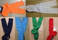 Wholesale Durable Combs - DHL ship Men's Football Soccer Socks thai Quality Thicken Combed Cotton Towel Above Knee Tube Durable Stockings Sport cheap socks Chaussette