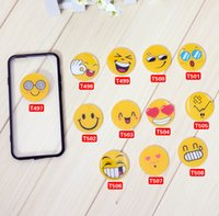 Wholesale Tile Accessory Wholesale - Emoji Resin Cell Phone Skins Stickers Smiling Face Cell Phone Skins Stickers Acrylic Tiles Creative DIY Accessories