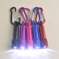 aluminium taschenlampe großhandel-Beste tragbare Mini-LED-Taschenlampe Keychain-Aluminiumlegierungs-Fackel mit Karabiner-Ring-Schlüsselanhänger LED-Mini-Taschenlampe Mini-Licht freies Verschiffen
