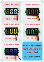 All'ingrosso-rosso / blu / verde / giallo / Colore Bianco Display DC 0-100V 0,36