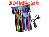 Wholesale E Cigarette Atomizer Ce4 Packages - E Cigarettes CE4 Twist Kits 650mah 900mah 1100mah ego-c twist Battery for E Cig CE4 Atomizer CE4 Single Kit Special Packaging Various Colors