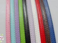 Wholesale Diy Pet Collar Necklace - PU leather belt 8mm wide 1 meter long diy bracelet pet collars leather necklace cord leather bracelet cord