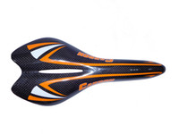 ingrosso selle di ciclo del carbonio-SA10 Nuovo arrivo Carbon Saddle Bike Saddle Bike Accessaries Colore arancione Painted Saddle 3K Weave Cycling Parts
